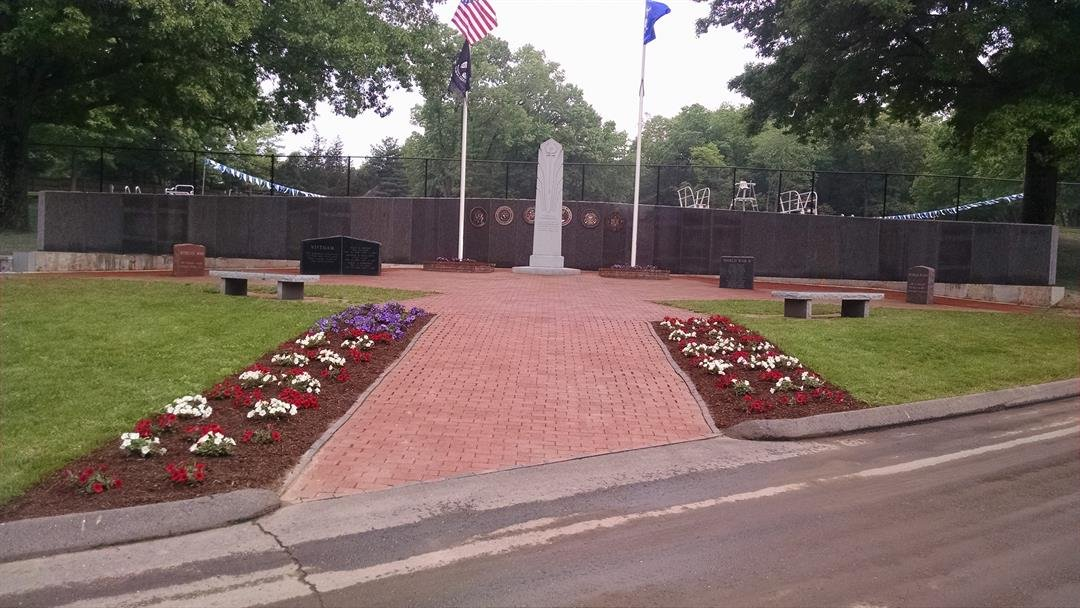 Veterans Memorial Wall in South Windsor (submitted photo)