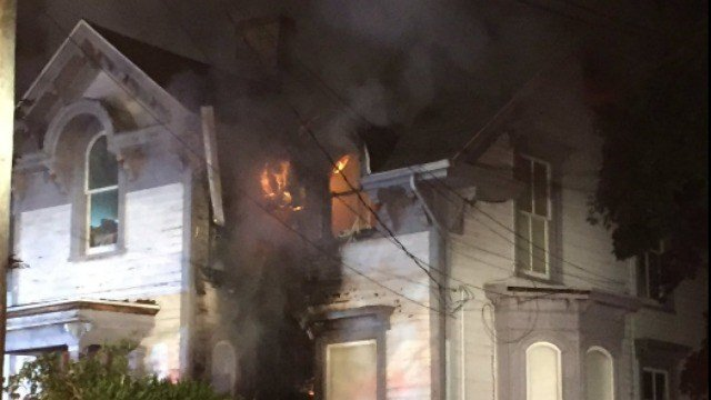 A family escaped after a fire broke out in the home's attic Sunday morning. (Hartford PD)