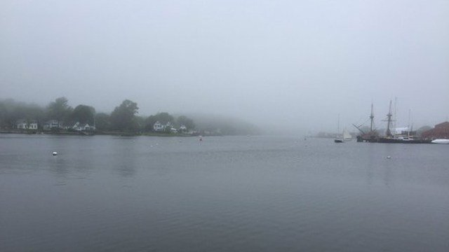 A foggy Memorial Day in Mystic. (WFSB photo)