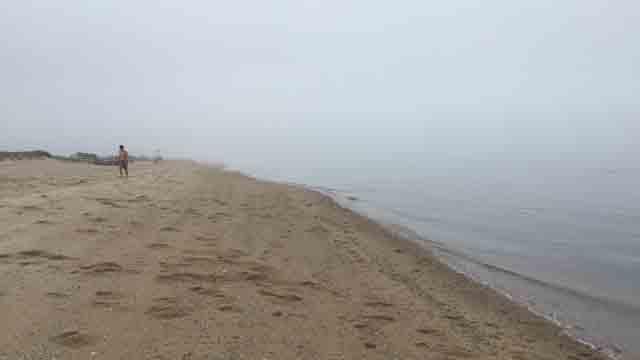 It was a soggy Memorial Day at Hammonasset Beach (WFSB)