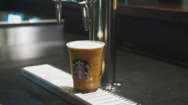 Starbucks' new Nitro Brew. (CNN photo)