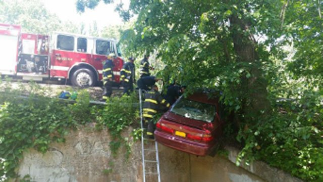 One car was involved in a serious crash on Route 15. (Hamden Fire Department)