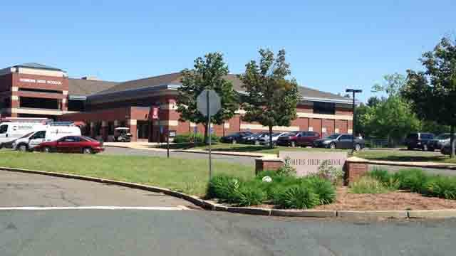 An online threat that referenced Somers High School is under investigation. (WFSB photo)