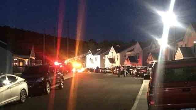 A fire broke out at a home on Thorpe Ave in Meriden on Tuesday. (WFSB)