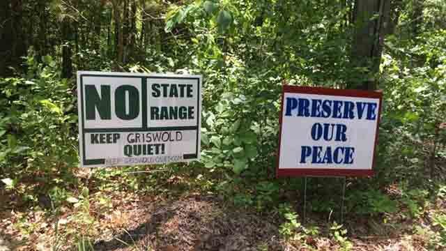 Griswold fights against proposed state police gun range (WFSB)