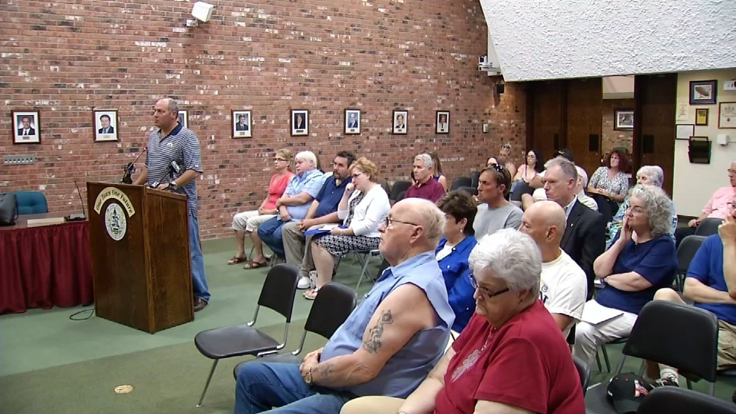 Homeowners hoped to get answers about their crumbling foundations at a public meeting in South Windsor Wednesday night. (WFSB photo)