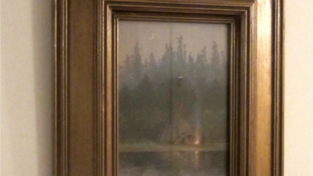 A painting by famous artist Henry Farny was recovered after it was stolen in Suffield last month. (Suffield PD)