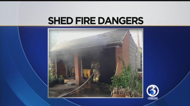 South Windsor Fire Department issues warning after recent shed fires. (WFSB)