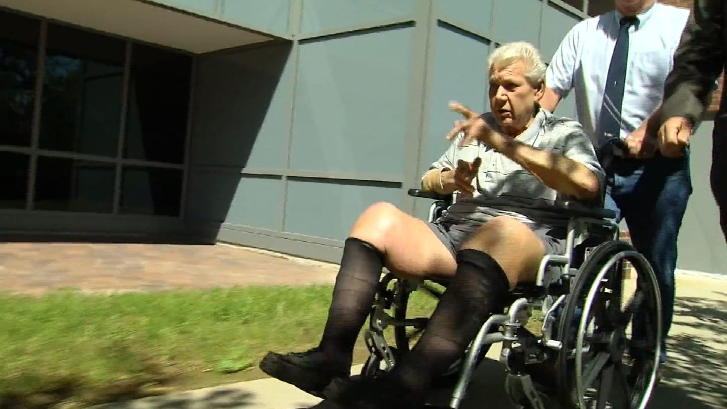 Robert Stackowitz was brought to court in a wheelchair. (WFSB photo)