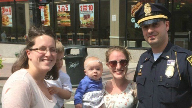 Friendly officer helps family (WFSB)