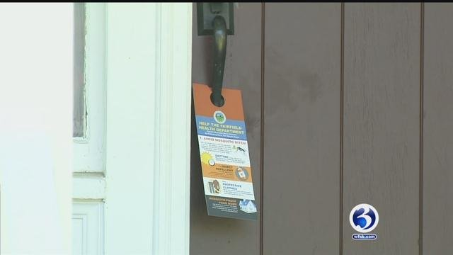 Fairfield officials work to raise awareness about mosquitoes. (WFSB)