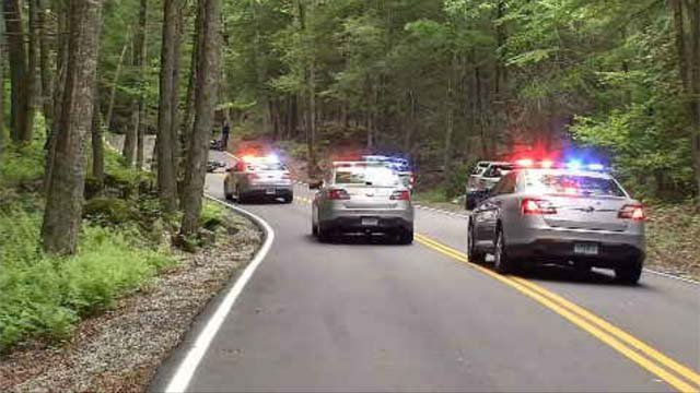 A motorcycle crash closed a road in East Haddam on Tuesday afternoon. (WFSB)