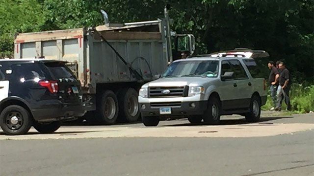 State and Skiff streets was closed after crash in North Haven on Wednesday morning. (WFSB)