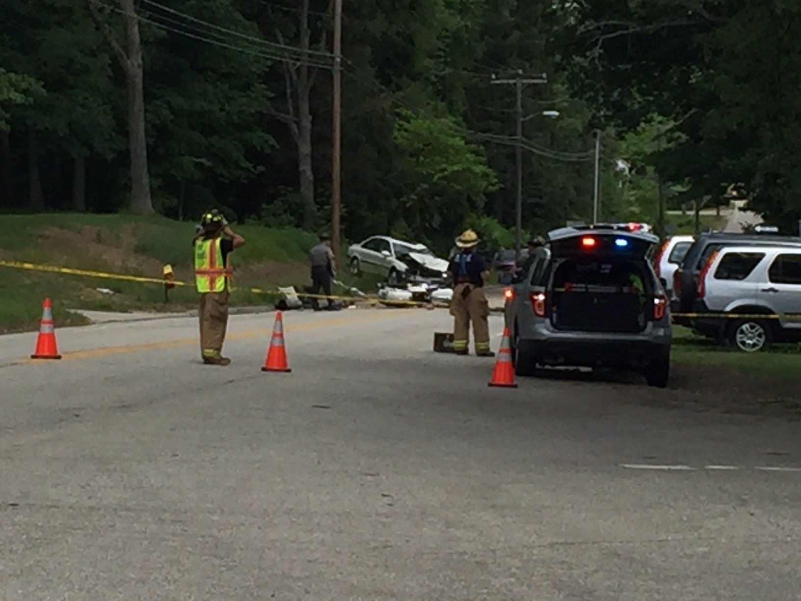 A motorcyclist dies after crash in Windham on Wednesday. (WFSB)