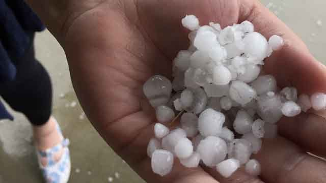 Gisele saw this hail in Norwich on Wednesday (iwitness)