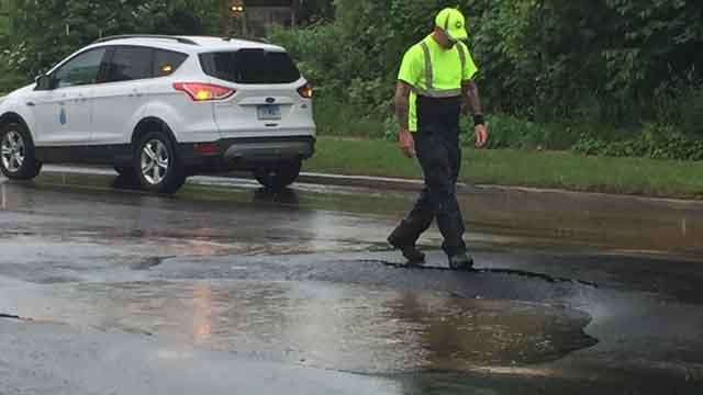 Windsor police said they have responded to a water main break on Windsor Ave. (WFSB)