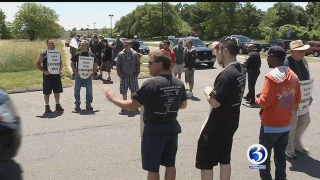 The lockout at HDI continued on Thursday. (WFSB)