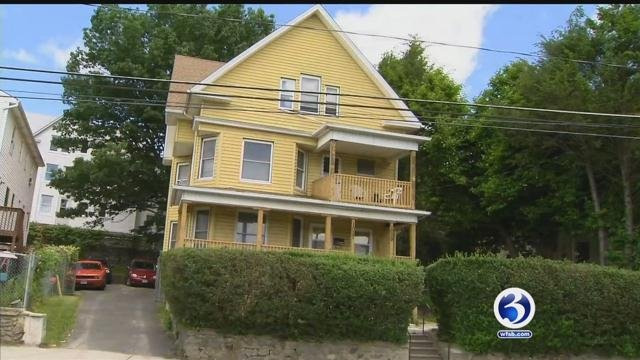 Dangling gutters, missing flashing, porch spindles already bowing, and even cracked support columns were found at the home. (WFSB)