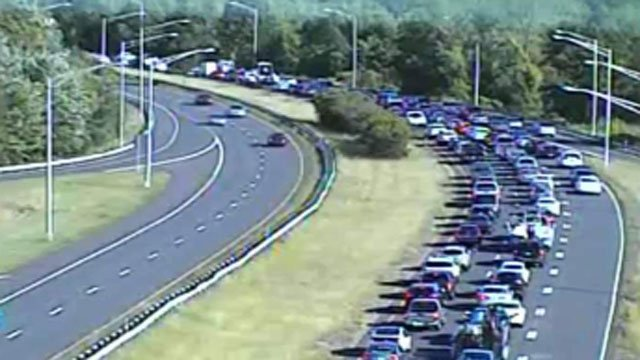 Traffic is jammed for miles after crash on Route 9 southbound. (DOT)