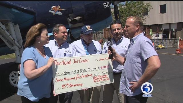 Brainard Airport donated $7,500 to Channel 3 Kids Camp. (WFSB)