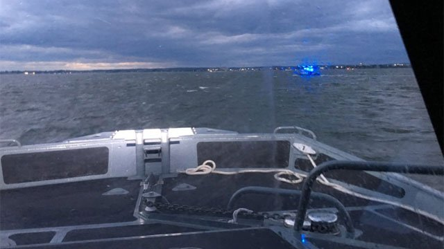 Search continues for missing boater in Long Island Sound. (@BRIDGEPORTEOC)