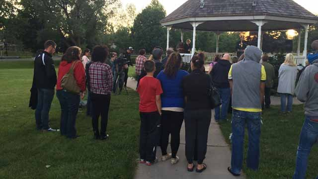 Community gathers in Enfield for a candlelight vigil (WFSB)