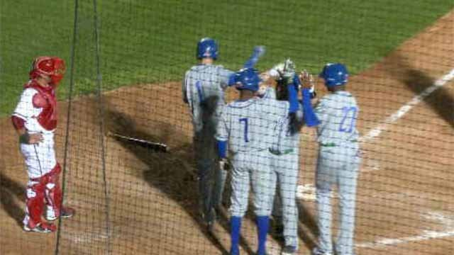 The Yard Goats during an away game earlier this season. (WFSB file photo)