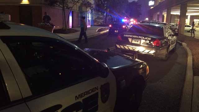 Heavy police presence seen at Meriden mall on Thursday. (WFSB)