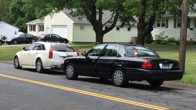 A woman was struck be a vehicle on Skinner Road in Vernon. (WFSB photo)