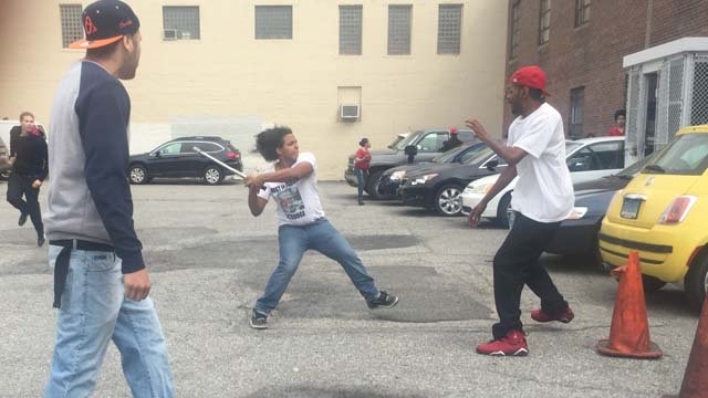 A fight broke out outside the Bridgeport courthouse (iWitness photo)