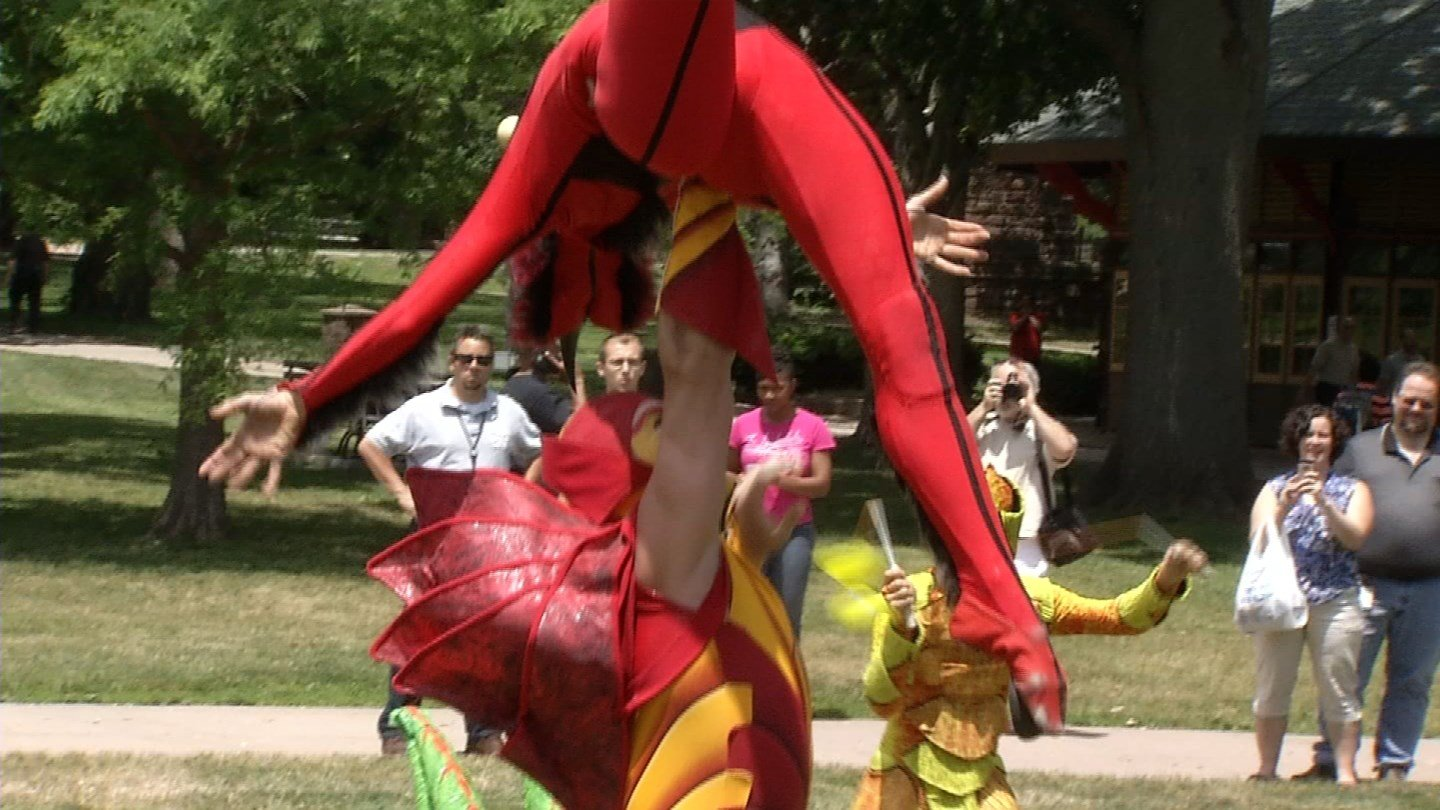 Cirque du Soleil performed at Bushnell Park on Friday. (WFSB photo)
