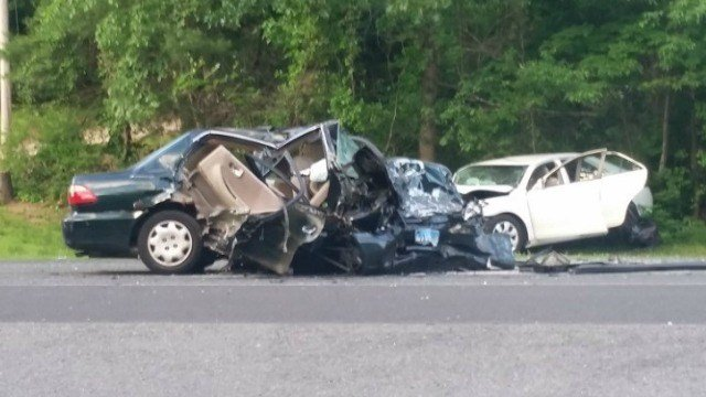 A section of Route 6 is closed following a serious crash. (Eyewitness photo)