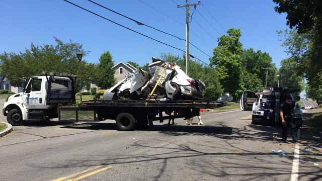 Two people were killed in a crash in Rocky Hill on Sunday morning. (WFSB)