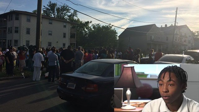 On Sunday, Mothers United Against Violence held a vigil to honor 22-year-old Daylon Ore. (WFSB)