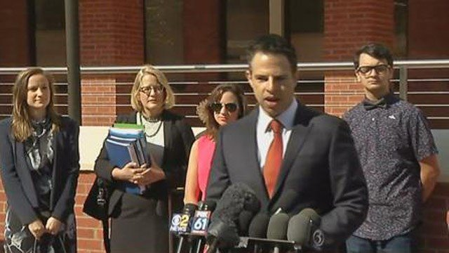 Sandy Hook families spoke out ahead of Monday's hearing. (WFSB photo)