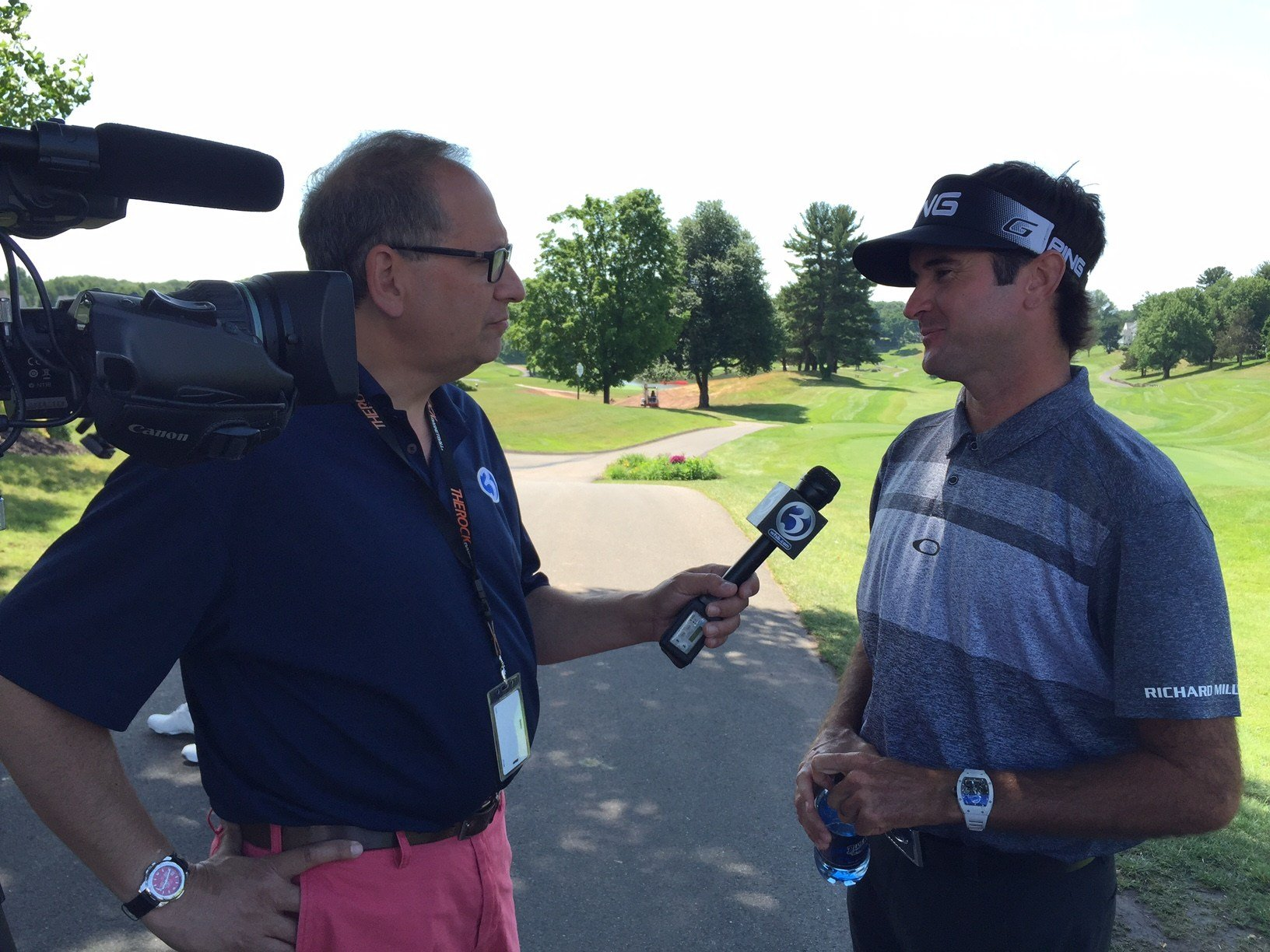 Bubba Watson talked with Eyewitness News while he was promoting the Travelers Championship on Monday. (WFSB)