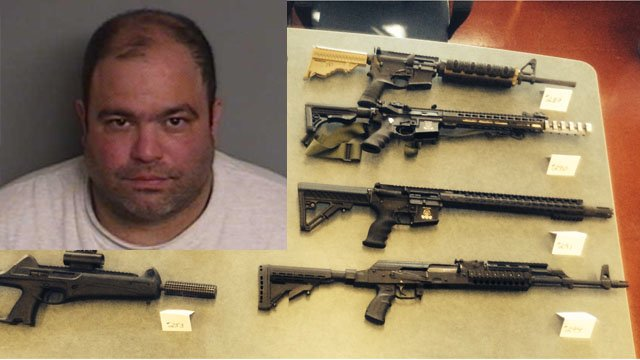 Michael Giannone was arrested for illegally manufacturing firearms. (State police photos)
