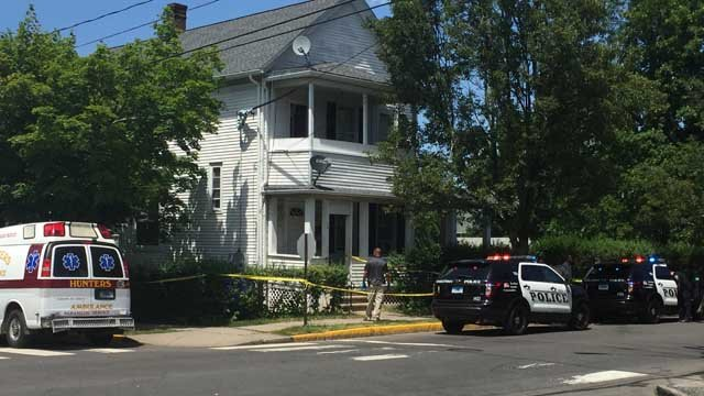 A person was stabbed at a home on Grand Street in Middletown. (WFSB photo)