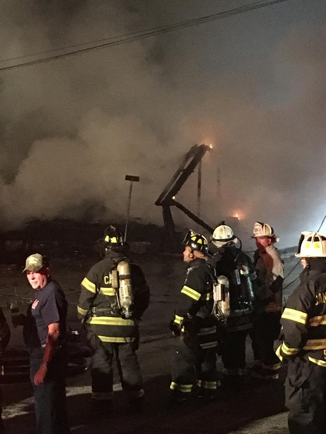 Firefighters remained on the scene of the fire for most of Wednesday morning. (WFSB photo)