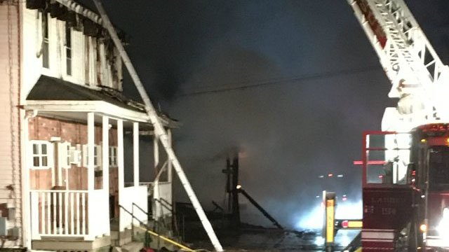 Firefighters battled the large fire. (WFSB photo)
