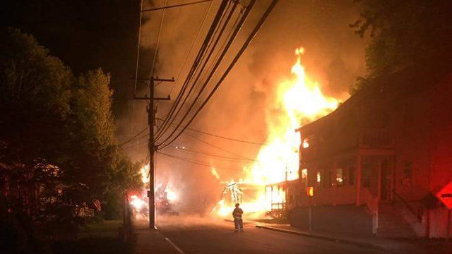 Several families were forced out by the South Main Street fire. (Willy Lehoux/iWItness photo)