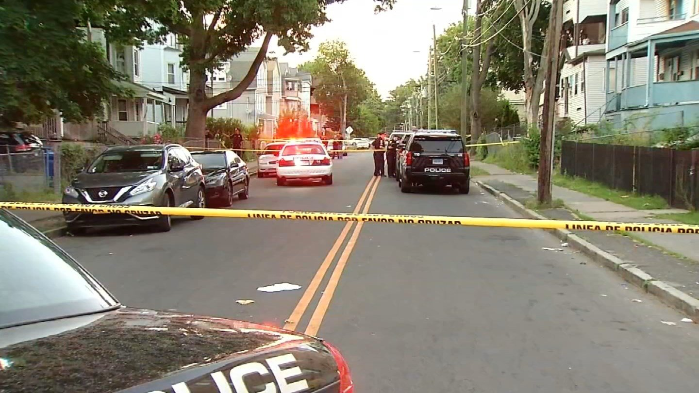 Two people were killed in a Tuesday night shooting in Hartford's north end. (WFSB photo)