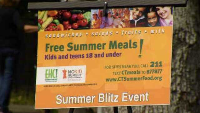 The State Department of Education is teaming up with several towns to put an end to hunger. (WFSB)