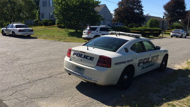 Police on the scene of a drowning in Plainfield. (WFSB)