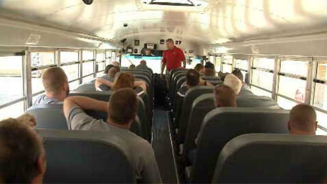 School bus drivers spent Wednesday in the classroom for training on dangerous situations. (WFSB)