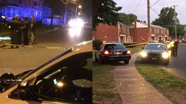 Daylon Ore was killed near Main and Earle streets in Hartford (left) and Trevino Archer was killed in a home on Plain Drive in East Hartford (right).