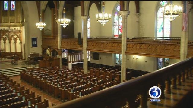 A Waterbury church was in danger of closing before a sizable donation. (WFSB)