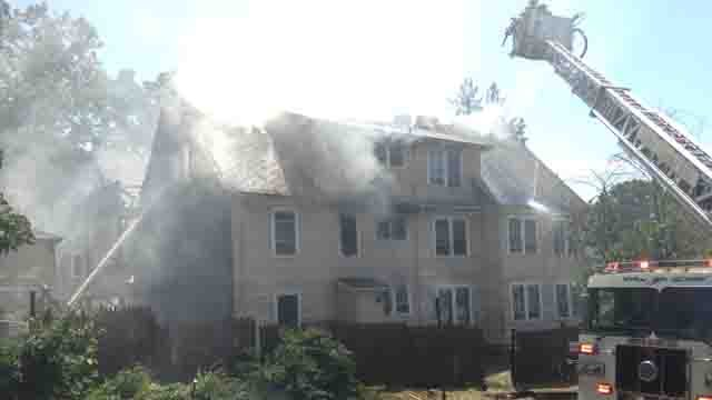 Crews battled a house fire in New Haven on Friday afternoon. (WFSB)