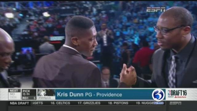 New London Native Kris Dunn was drafted to the Minnesota Timberwolves. (WFSB)