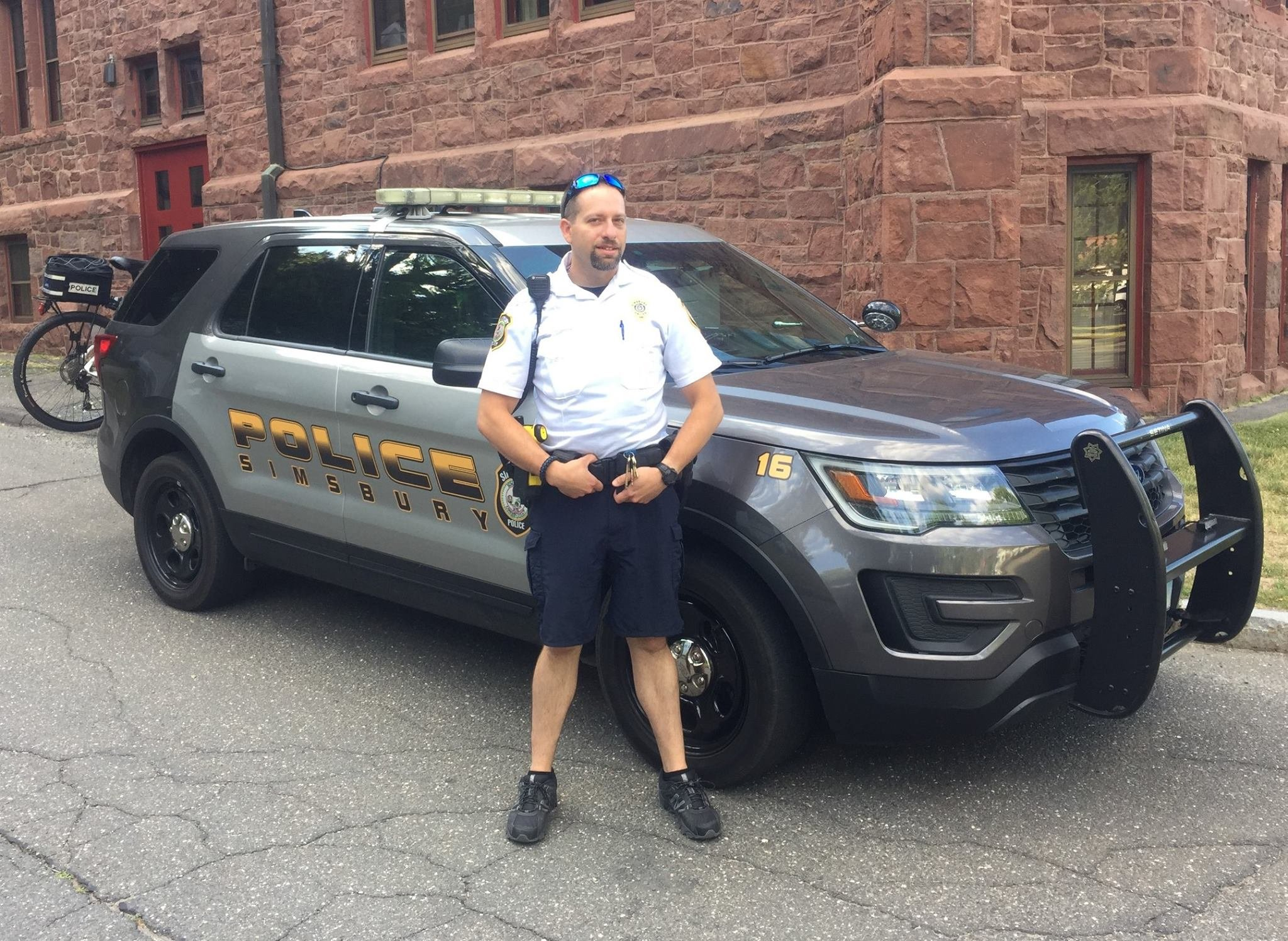 Officer Jamie Ball used a dose of Narcan to save the life of a man who overdosed Friday. (Simsbury Police Dept. Facebook)